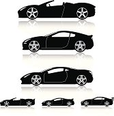 Super Cars Silhouettes
