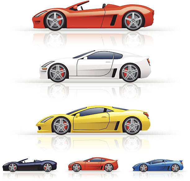 Best Fast Car Illustrations, Royalty-Free Vector Graphics