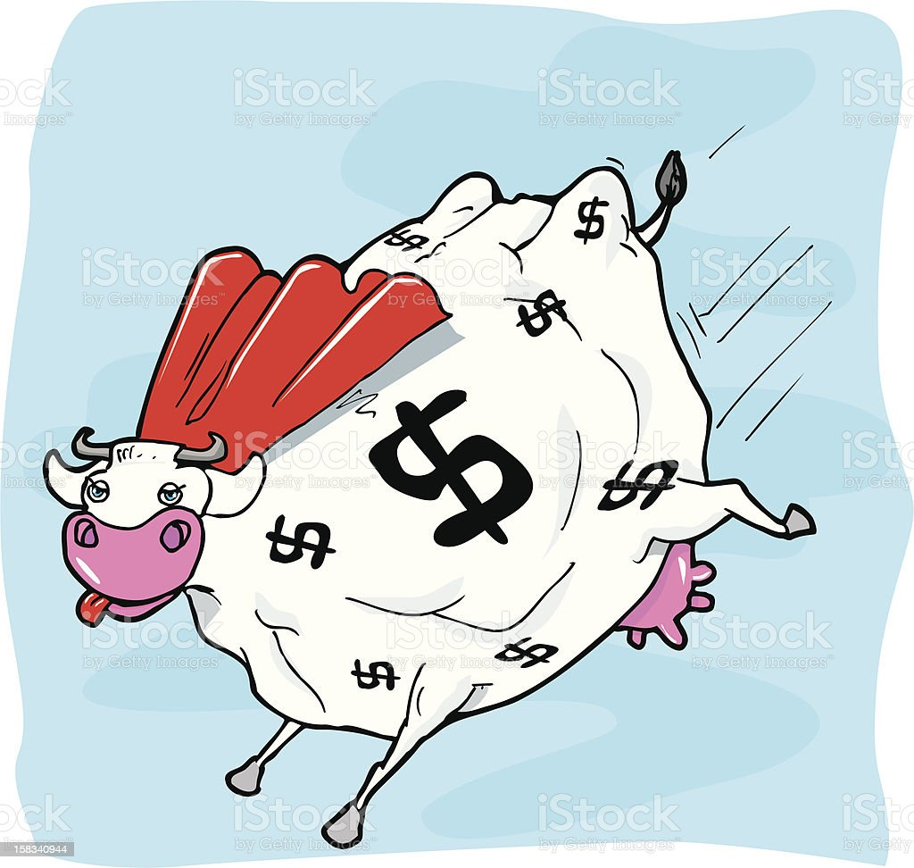 Super Cash Cow royalty-free stock vector art