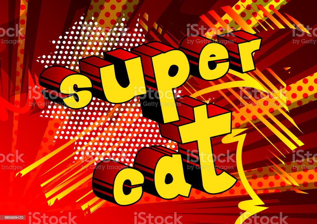 Super kat - Royalty-free Abstract vectorkunst