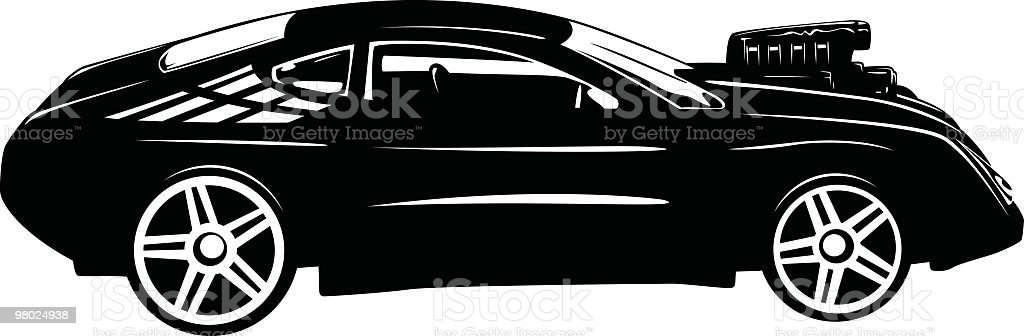Super charged car royalty-free super charged car stock vector art & more images of back lit
