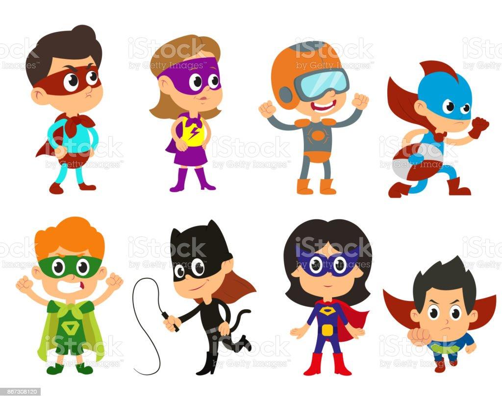 Super children illustration. vector art illustration