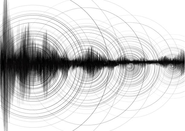 Super Circle Vibration with Earthquake Wave on White paper background; audio wave diagram concept; design for education and science; Vector Illustration. Super Circle Vibration with Earthquake Wave on White paper background; audio wave diagram concept; design for education and science; Vector Illustration. earthquake stock illustrations