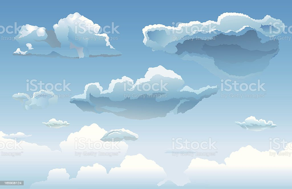 Super Clouds royalty-free stock vector art