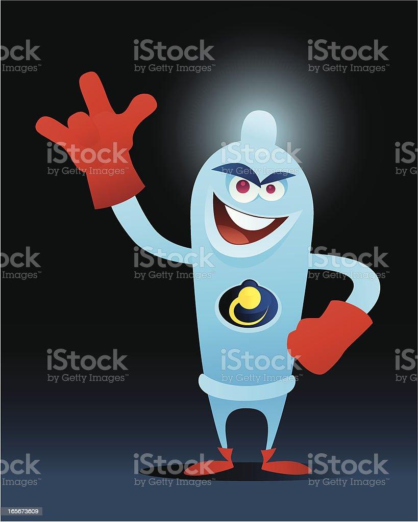super condom vector art illustration
