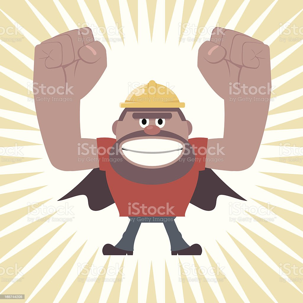 Super Construction Worker Power royalty-free stock vector art