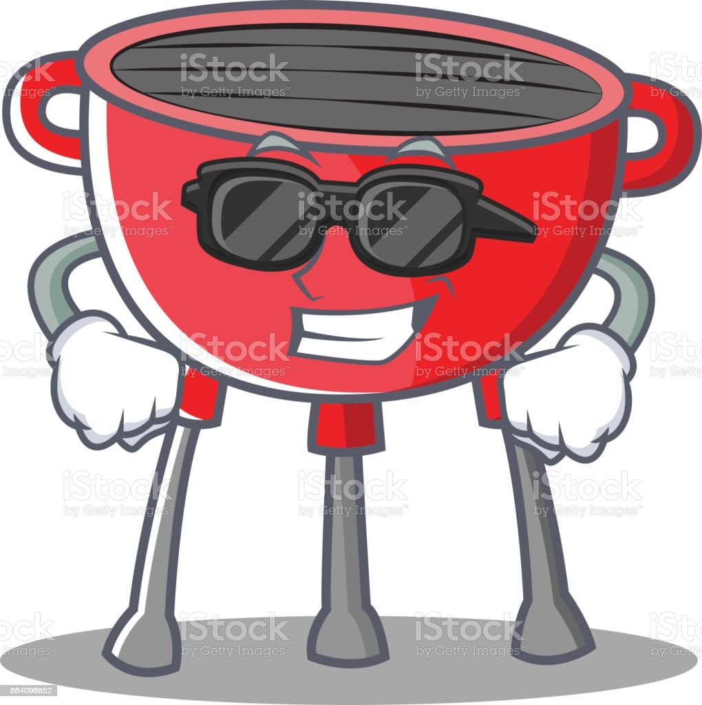 Super Cool Barbecue Grill Cartoon Character royalty-free super cool barbecue grill cartoon character stock vector art & more images of clip art