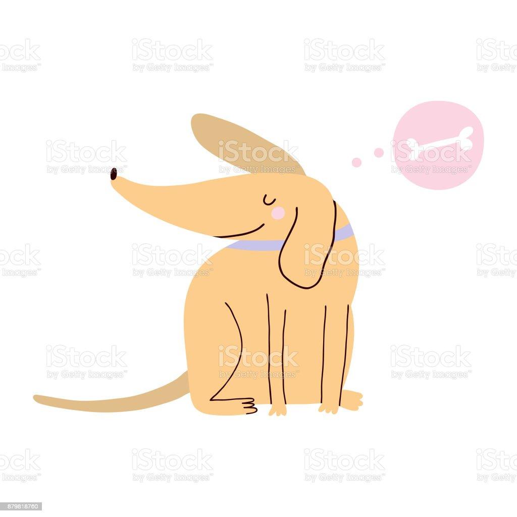 Fun hand drawn animal character.
