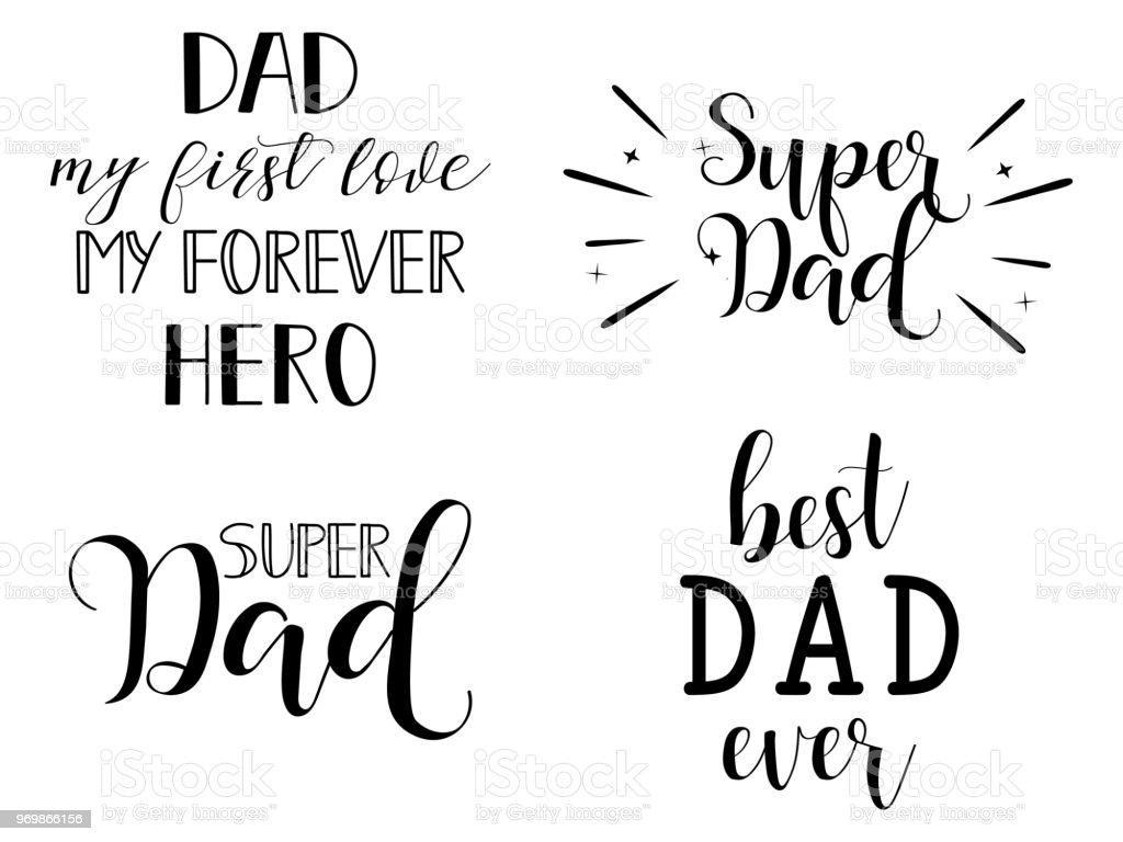Ilustración De Super Juego De Papá Día Del Padre De Letras
