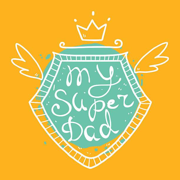 Super dad vector art illustration