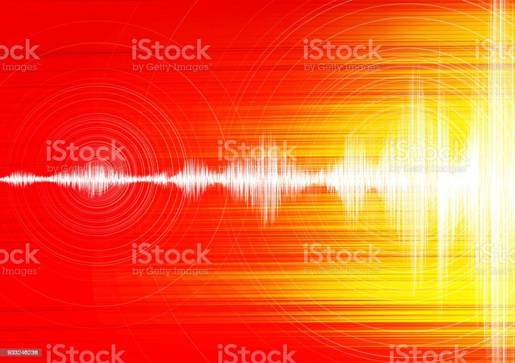 Super Erdbeben Welle Mit Kreis Vibration Auf Speed Hintergrund Audio ...