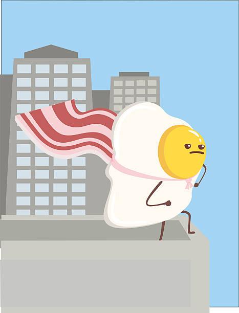 Super Egg Cartoon vector art illustration