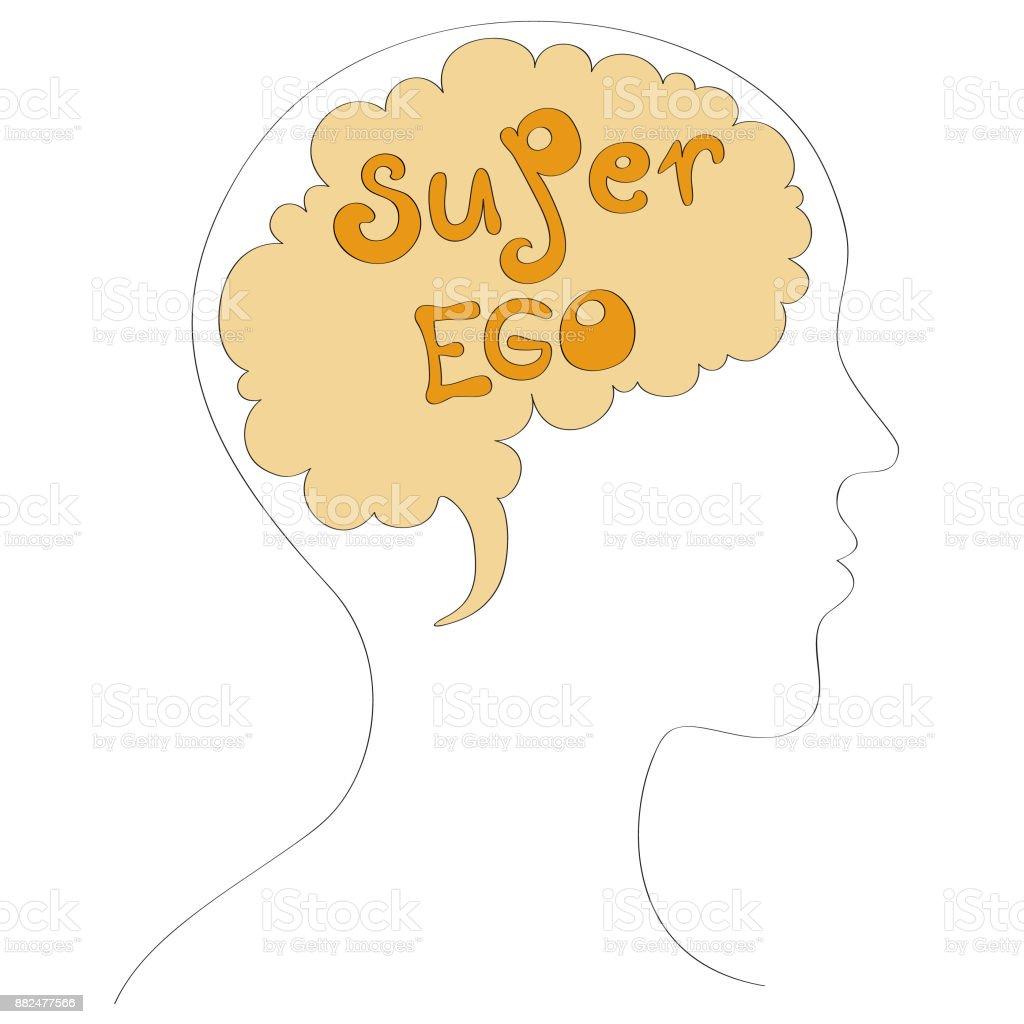 Super ego vector illustration vector art illustration