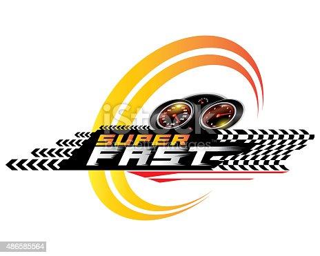 Super Fast concept design vector