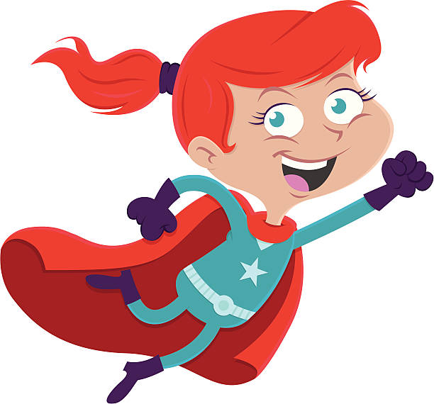 super girl - redhead stock illustrations, clip art, cartoons, & icons