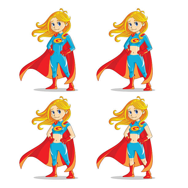 Super Girl vector art illustration