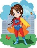 Super Girl vector illustration