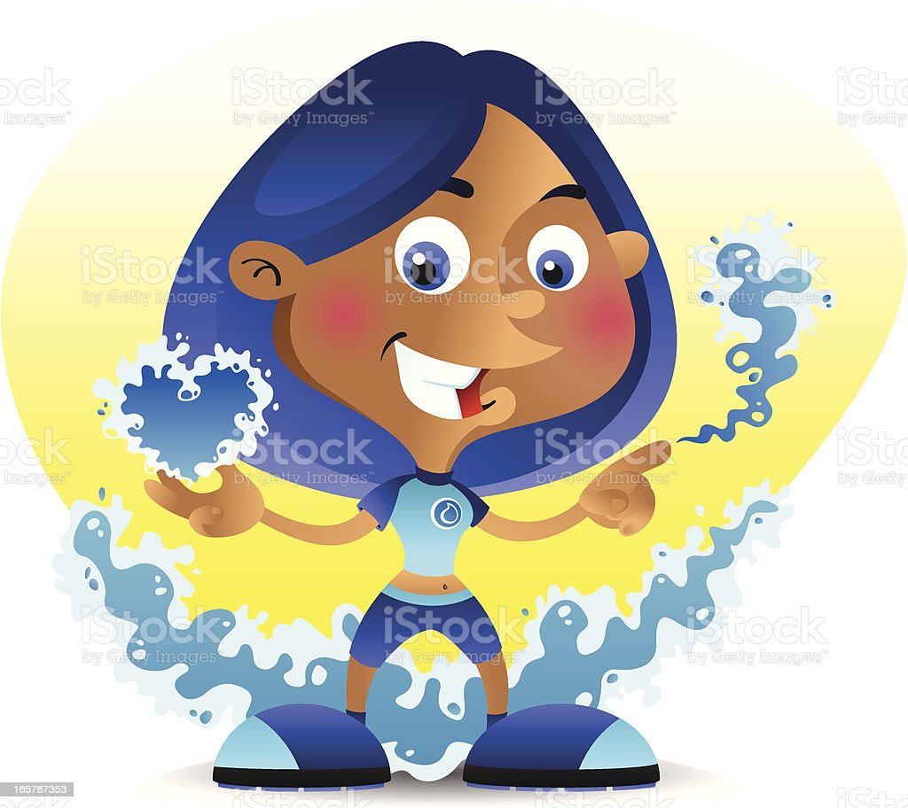 Super Girl Water royalty-free super girl water stock vector art & more images of adult