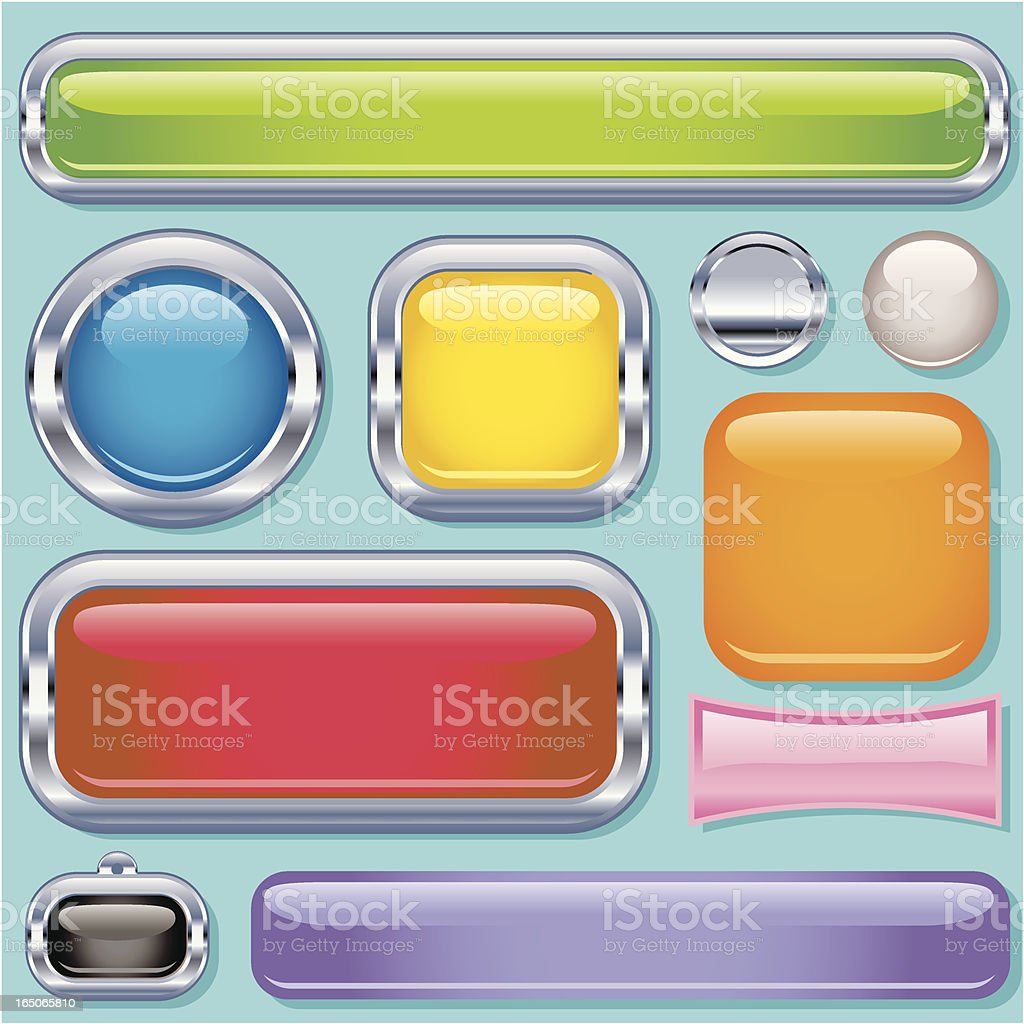 Super Gloss Rectangles royalty-free stock vector art