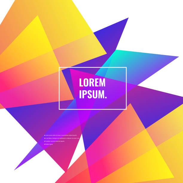 Super Farbverlauf geometrischen Hintergrund – Vektorgrafik