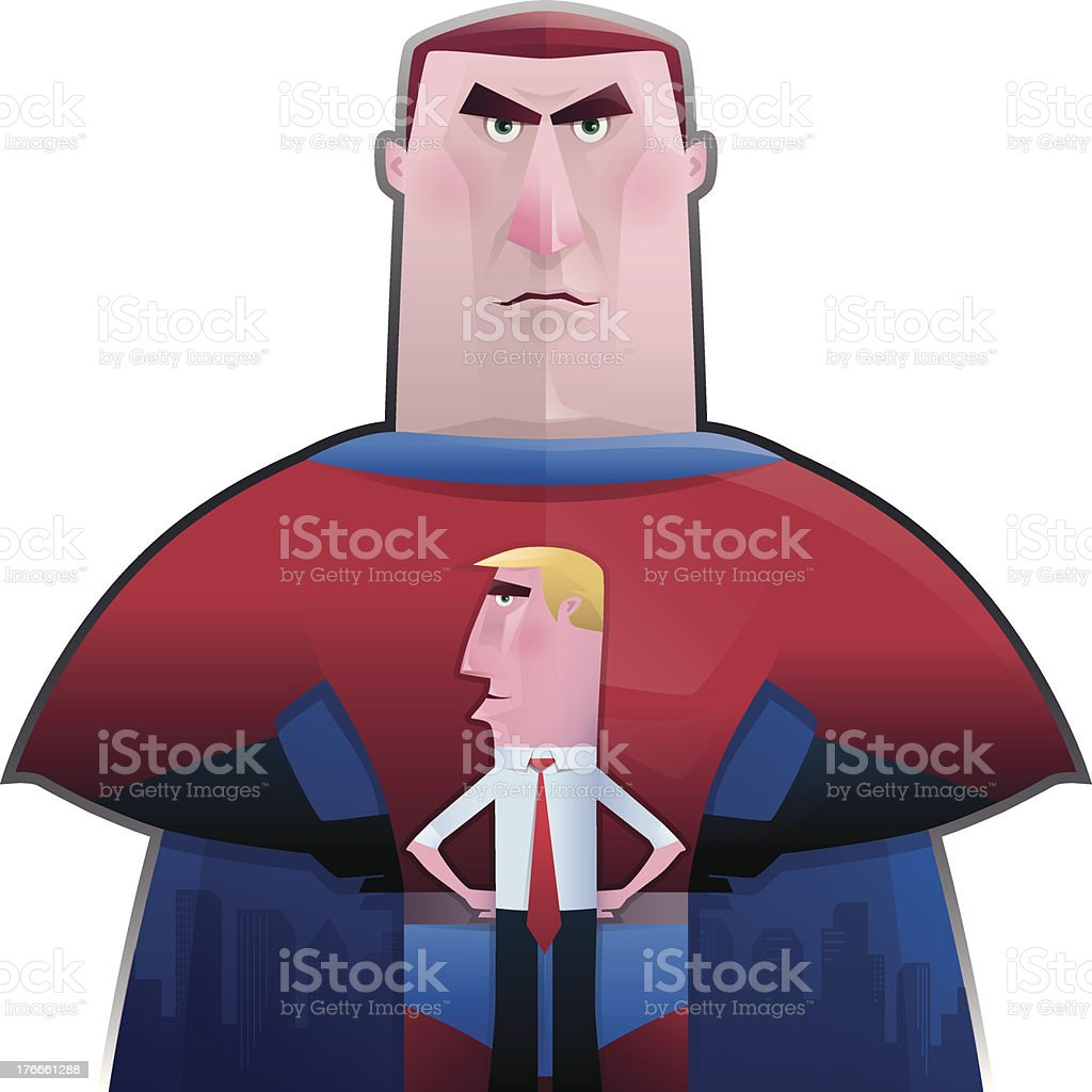 super hero and businessman royalty-free super hero and businessman stock vector art & more images of adult