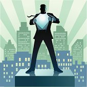 Super Hero Businessman and the City