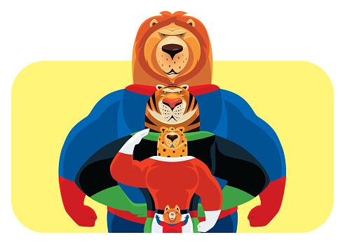 super hero cats meeting
