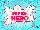 Super hero. Comic book style lettering