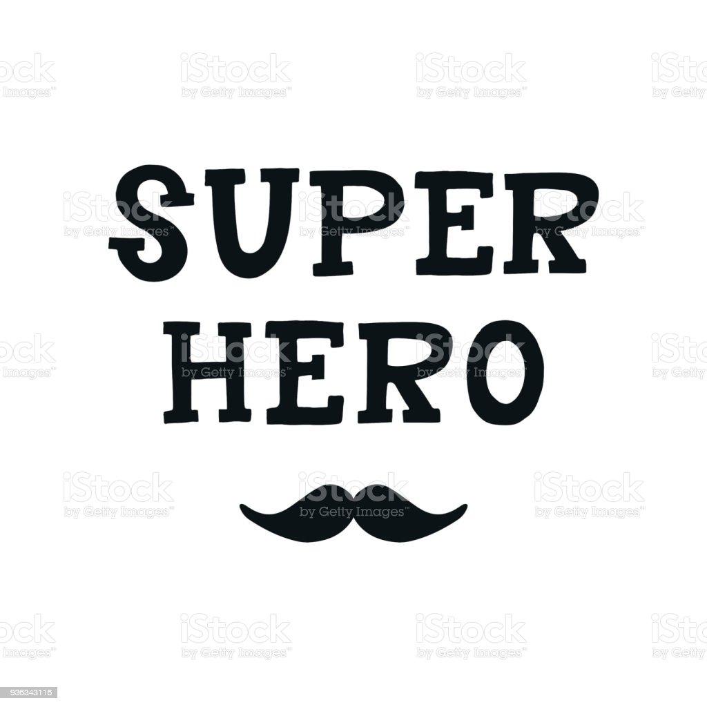 Superhelden Süß Und Spaß Hand Gezeichnete Kinderzimmer Poster Mit ...