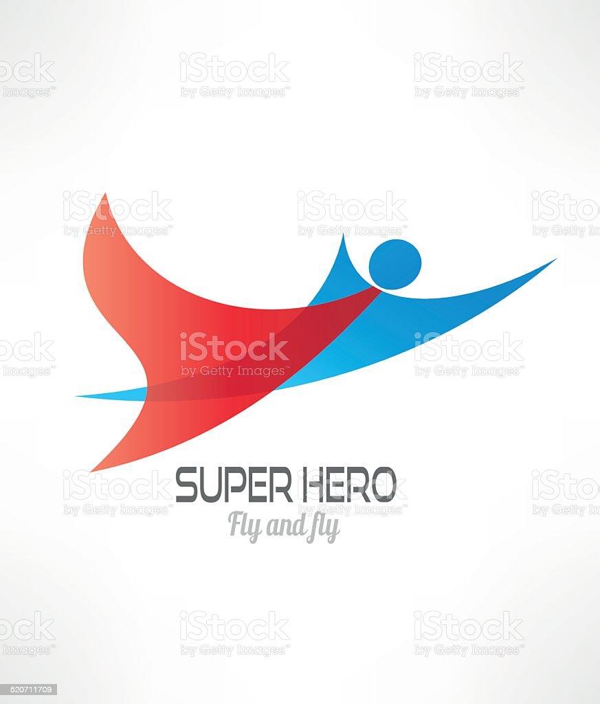 Super Hero design template. Abstract character. vector art illustration