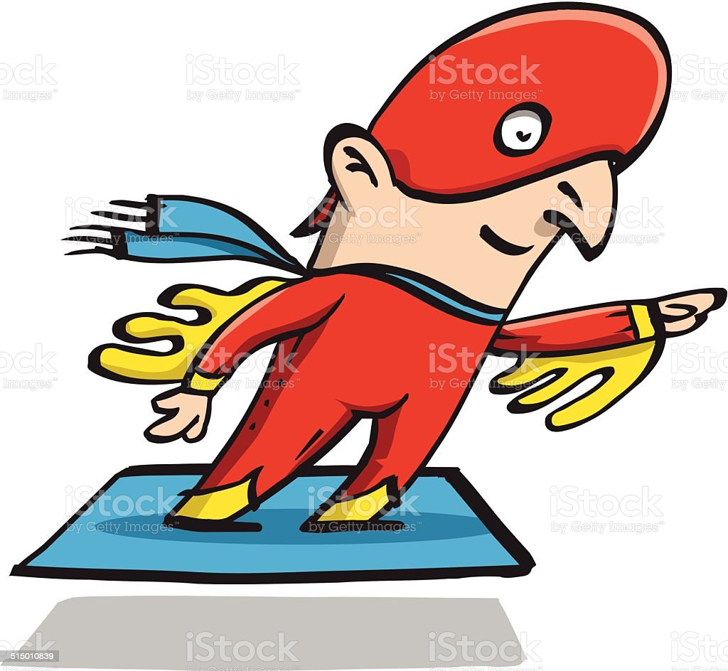 Super hero Eagleman Karl vector art illustration