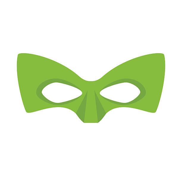 bildbanksillustrationer, clip art samt tecknat material och ikoner med super hero green mask - superhjälte isolated