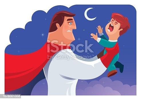 istock super hero holding crying toddler 1078001058