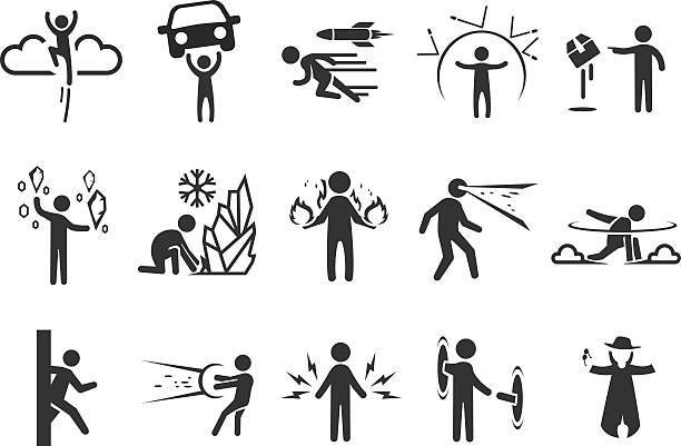 super-helden symbole-abbildung - morphing stock-grafiken, -clipart, -cartoons und -symbole