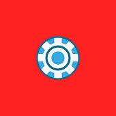 istock Super Hero logo. Vector flat design 1147467086
