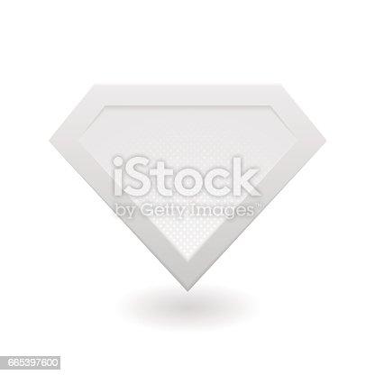 istock Super hero logo 665397600