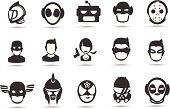 Super Hero Mask Icons