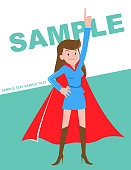 Cool Woman Characters Manga Style Cartoon Vector art illustration.Copy Space, Full Length, White Background.