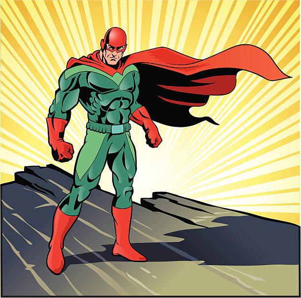 super hero ready for action - superhero stock illustrations, clip art, cartoons, & icons