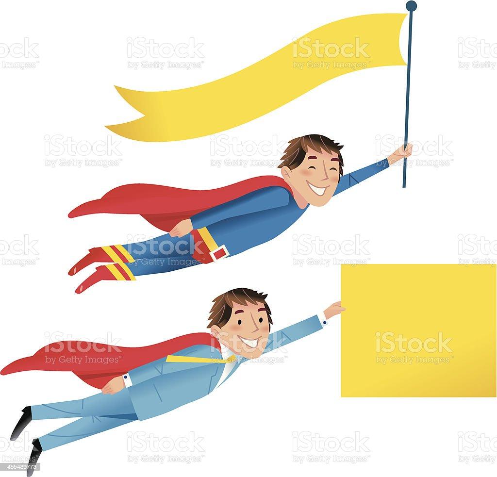 Super Hero signs vector art illustration