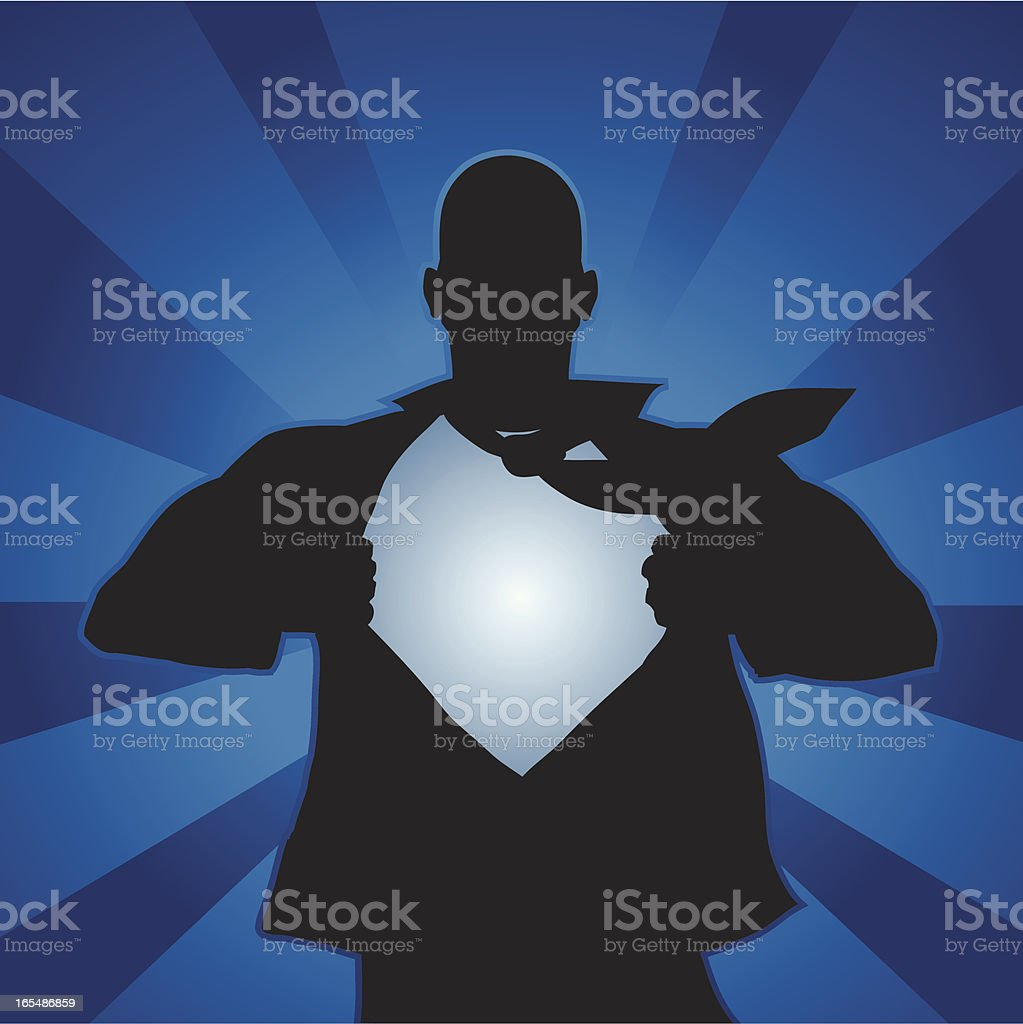 Super hero vector art illustration