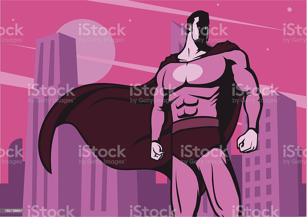 Super Hero Vintage Poster royalty-free stock vector art