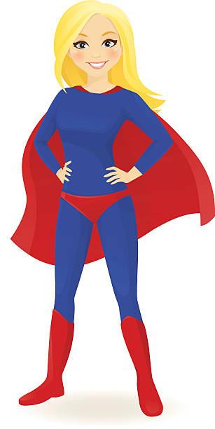super-helden frau - superwoman stock-grafiken, -clipart, -cartoons und -symbole