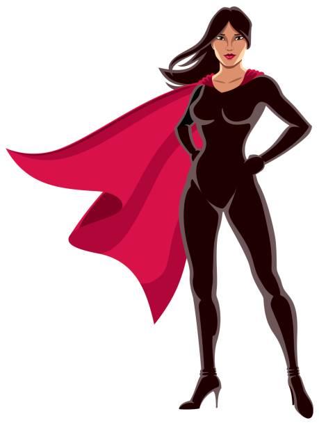 super-heldin asiatisch - superwoman stock-grafiken, -clipart, -cartoons und -symbole