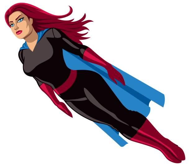 super-heldin fliegen - superwoman stock-grafiken, -clipart, -cartoons und -symbole