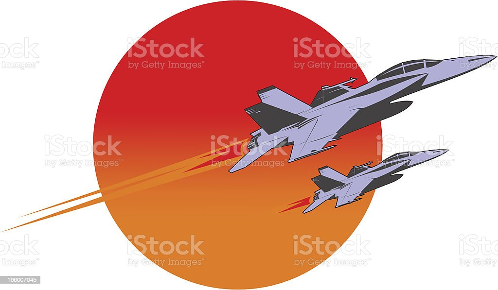 F-18 super hornet flying over the sun royalty-free f18 super hornet flying over the sun stock vector art & more images of aerial dogfight
