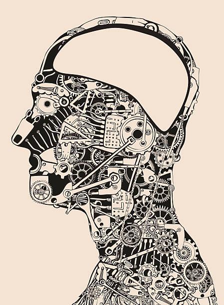 Super Human Antagony. vector art illustration