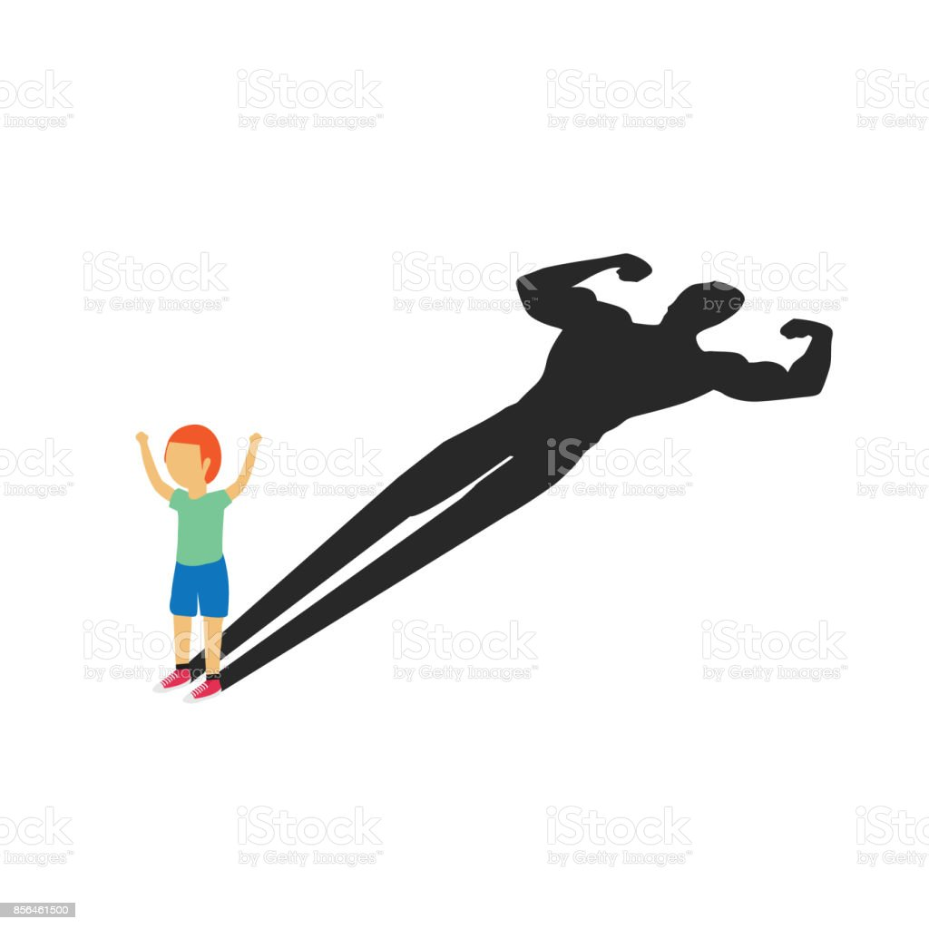 Super Kid Become A Hero Stock Vector Art & More Images of Blue ...