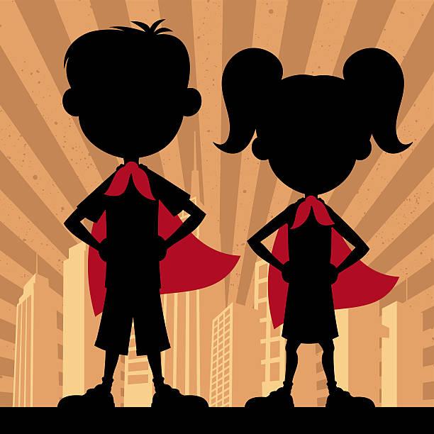 スーパー子供 2 - 漫画の子供たち点のイラスト素材/クリップアート素材/マンガ素材/アイコン素材