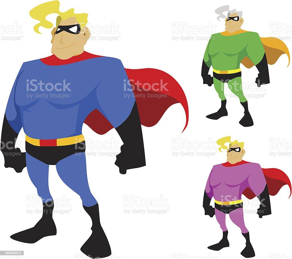 Super Masked Man Cartoon Character vector art illustration